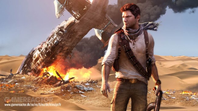 Tom Holland como Nathan Drake no filme de Uncharted