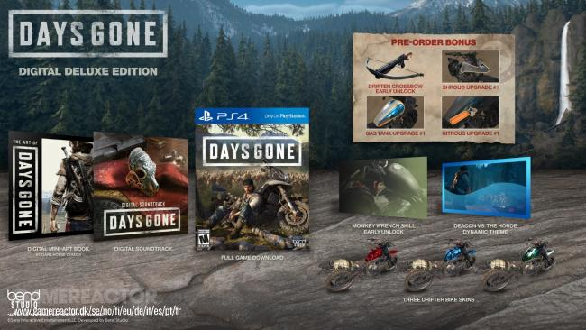 Sony revelou as edições de colecionador de Days Gone