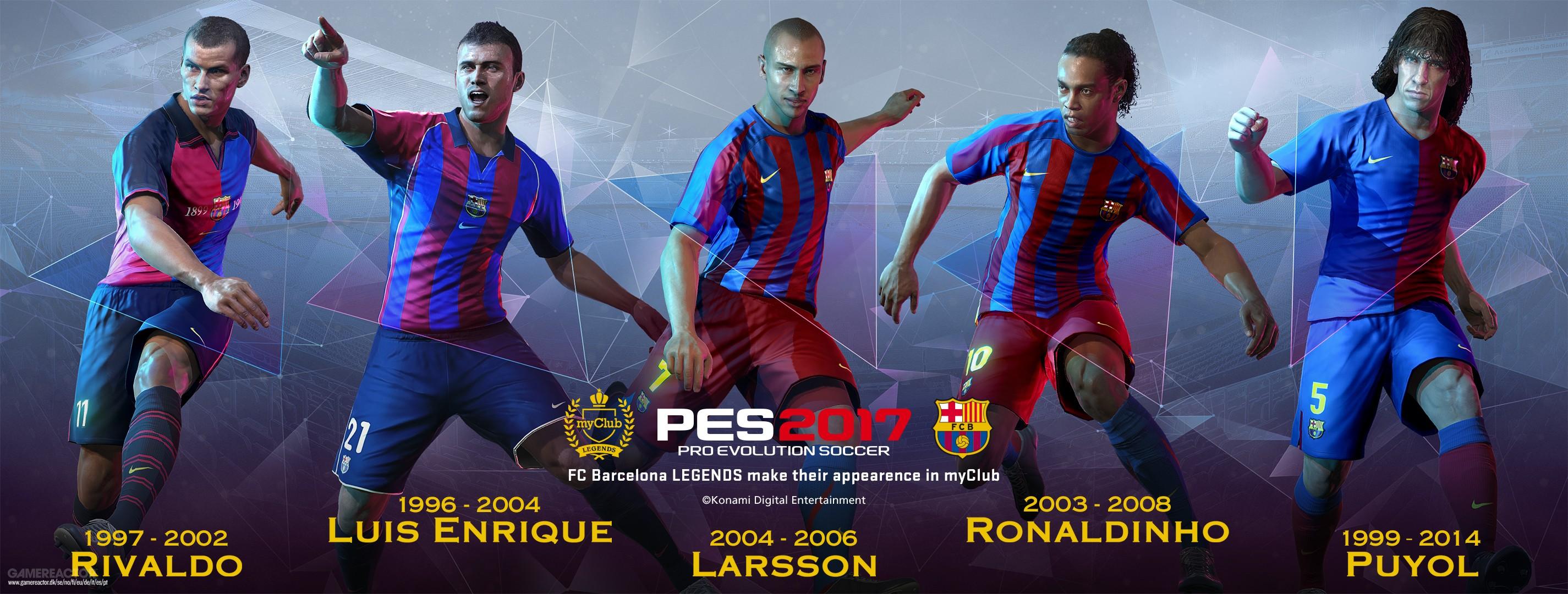 Imagens de Lendas do Barcelona em novo trailer de PES 2017 1/3