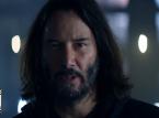 Keanu Reeves e Billie Eilish no anúncio de Cyberpunk 2077