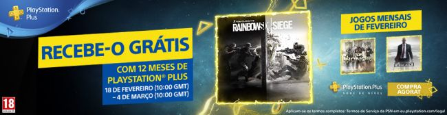 Sony está a oferecer Rainbow Six: Siege a assinantes estreantes do PS Plus