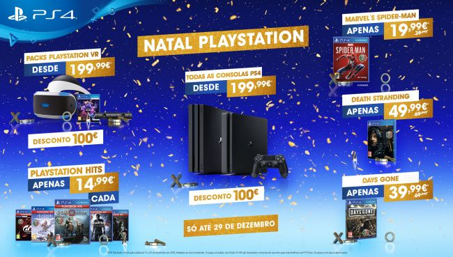 PS4 e PS4 Pro com descontos de 100 euros