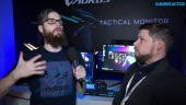 CES19: Gigabyte Aorus Monitor - Andrew Ditchburn Interview