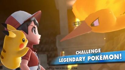 Pokémon: Let's Go Pikachu!/Let's Go Eevee! - Pokemon Go And Legendary Pokemon Trailer