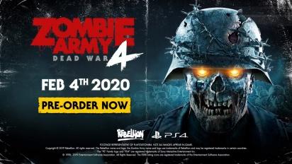 Zombie Army 4: Dead War - Trailer da data de lançamento