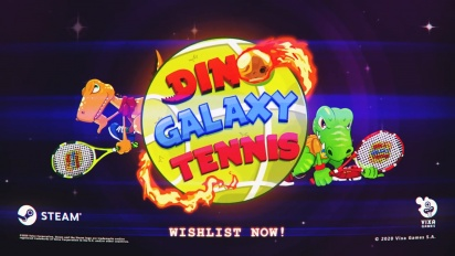 Dino Galaxy Tennis - Steam Reveal Trailer