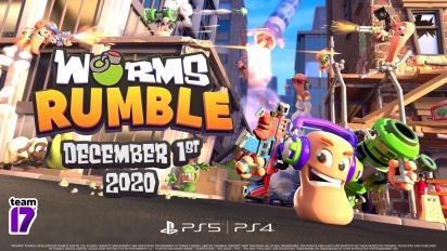 Worms Rumble - Trailer da versão beta e da data de lançamento