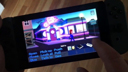 Thimbleweed Park - Running on the Nintendo Switch with Touch Controls