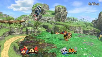 Super Smash Bros. Ultimate - Banjo & Kazooie vs Sans Gameplay