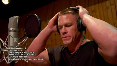 WWE 2K15 - The Soundtrack - Wiz Khalifa & John Cena Studio Feature