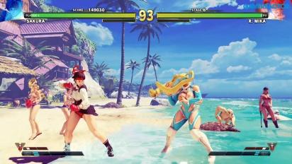 Street Fighter V: Arcade Edition - SF Alpha Path - Sakura vs. R. Mika