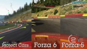 Forza Motorsport 6 vs Project CARS vs Forza 5 Comparison Gameplay: Spa-Francorchamps
