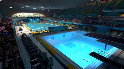 London 2012 - The Official Video Game of the Olympic Games - Aquatic Centre Flythrough Trailer