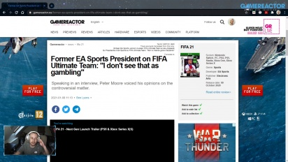 GRTV News - Former EA Sports President comments on FIFA Ultimate Team
