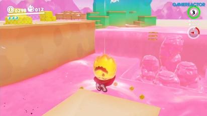 Super Mario Odyssey - Jogabilidade em Luncheon Kingdom Parte 1