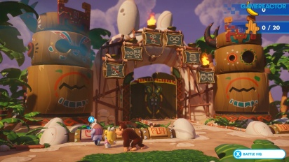 Mario + Rabbids Kingdom Battle - Jogabilidade de Donkey Kong DLC
