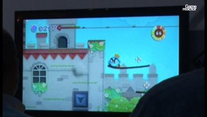 E3 10: Kirby's Epic Yarn gameplay