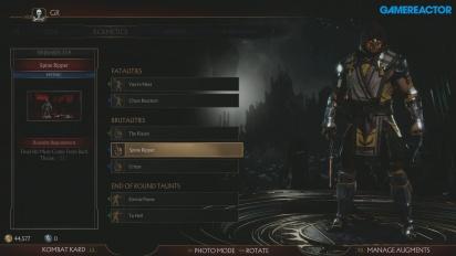 Mortal Kombat 11 - Menu de personalização