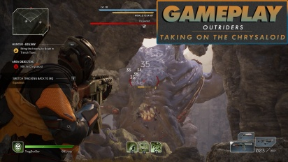 Outriders - Taking on the Massive Chrysaloid Boss Gameplay