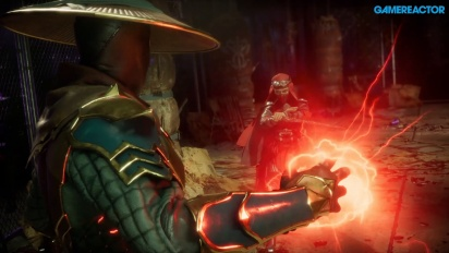 Mortal Kombat 11 - Raiden, Baraka, and Skarlet Gameplay