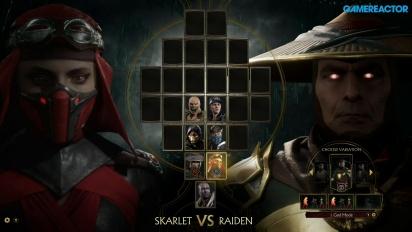 Mortal Kombat 11 - Skarlet vs. Raiden Reveal Event Gameplay