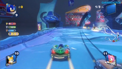 Team Sonic Racing - Corrida Frozen Junkyard Multiplayer