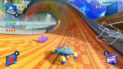 Team Sonic Racing - Corrida Survival em Lost Palace